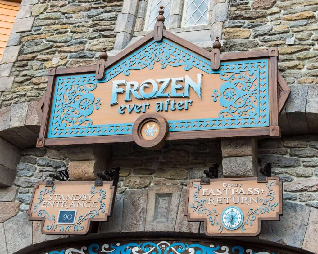 Frozen Ever After Sign Pics from the World of Disney