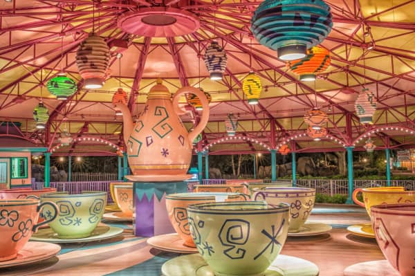 Mad Tea Cups in Disney World