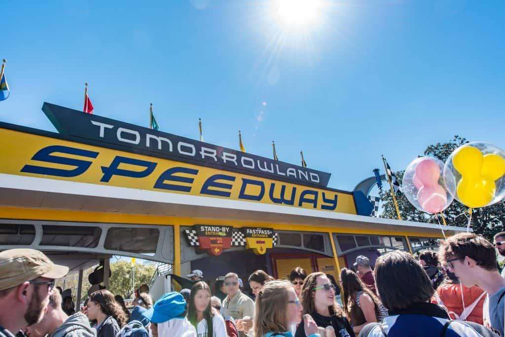 Tomorrowland Speedway in Disneys Magic Kingdom