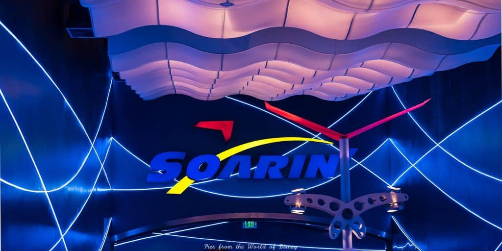 Soarin ride in Future World at Epcot