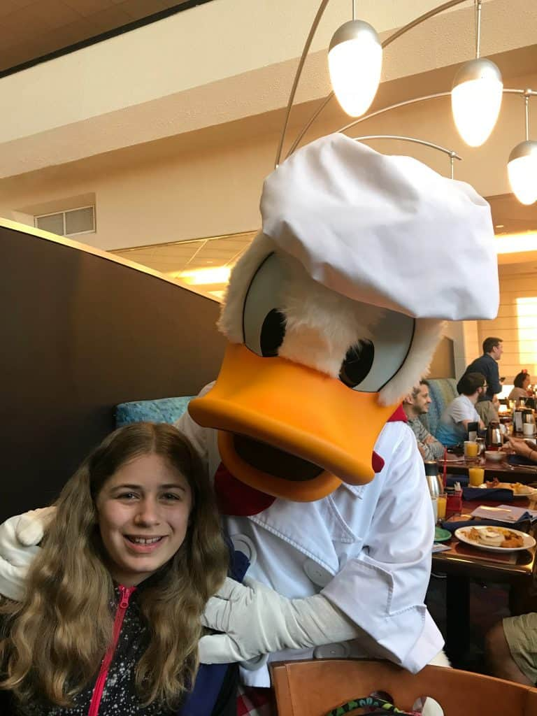Donald Duck at Chef Mickeys