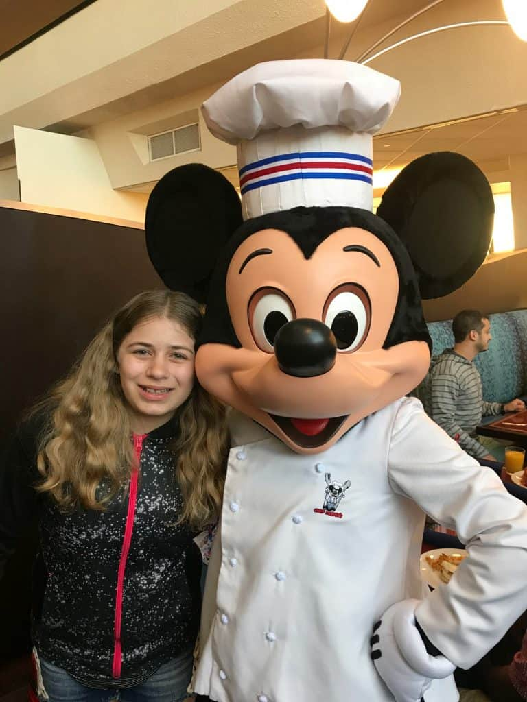 Mickey Mouse at Chef Mickeys character buffet