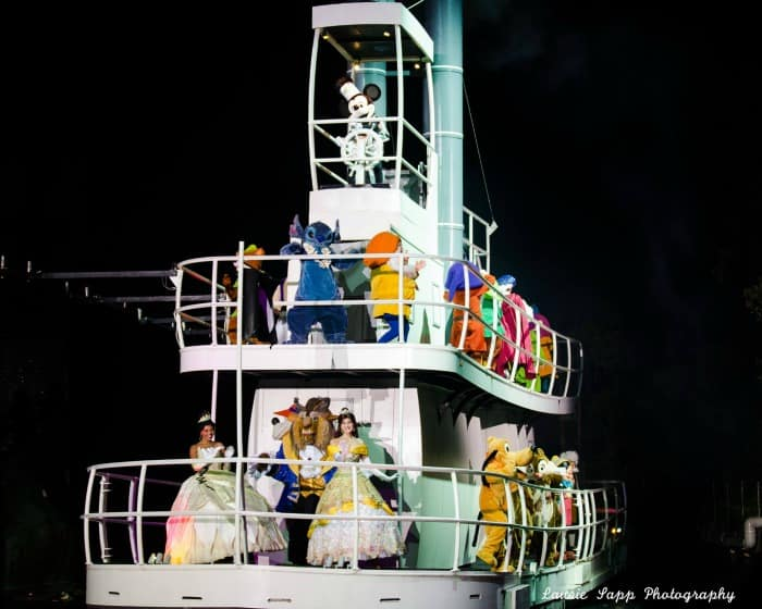Steamboat Willie Boat in Fantasmic at Walt Disney World