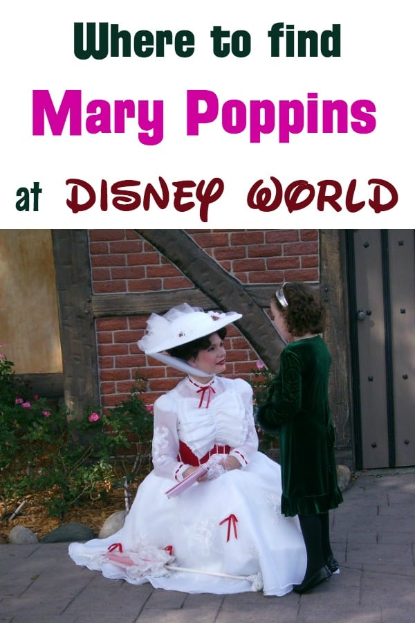 Where to find Mary Poppins at Disney World: Epcot, Liberty Square in Magic Kingdom, and 1900 Park Park Fare at the Grand Floridian Resort. Also info about the new Mary Poppins ride in Epcot!