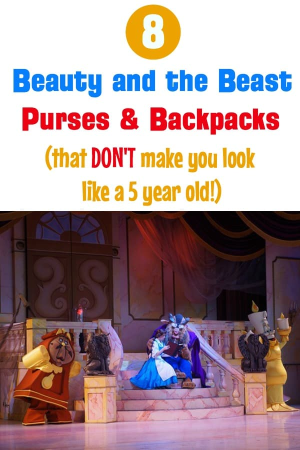 Beauty and the Beast purses wallets and backpacks for adult women