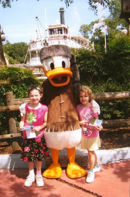 Donald Duck in Frontierland at Disney World