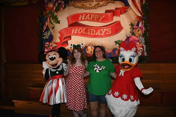 Characters at Mickey's Very Merry Christmas Party