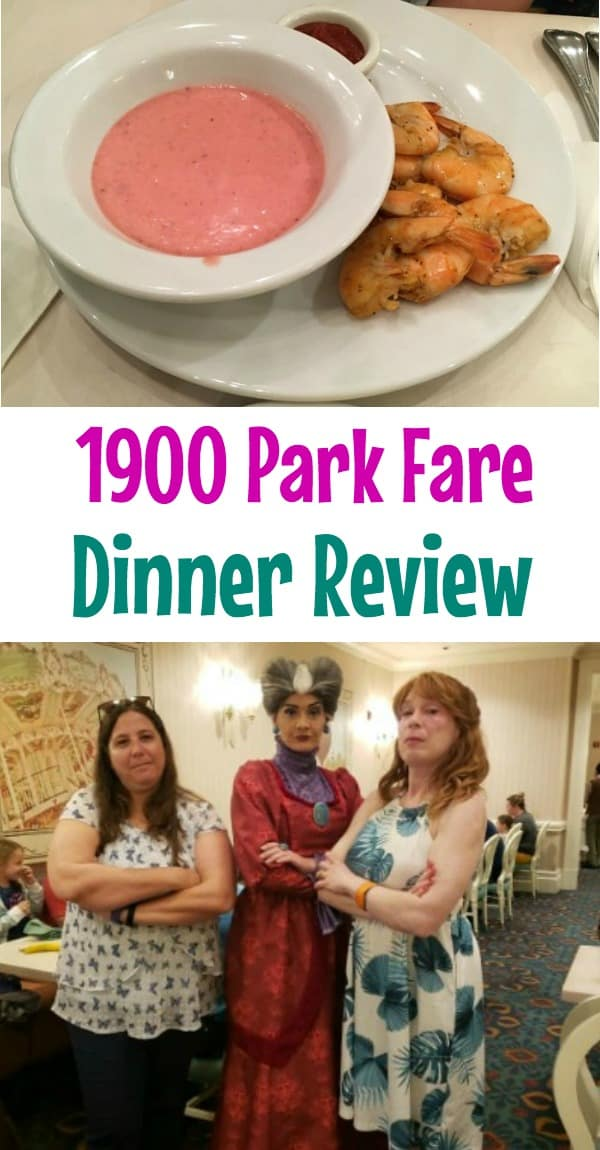 1900 Park Fare dinner review -- menu, food, characters, and strawberry soup