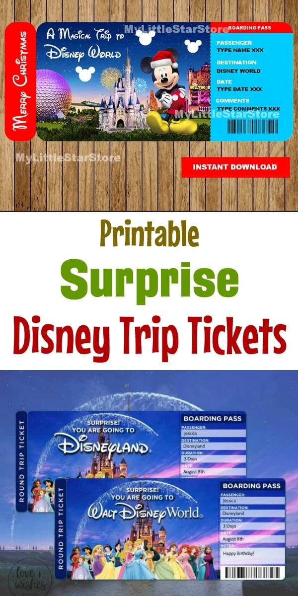 surprise youre going to Disney World ticket reveal