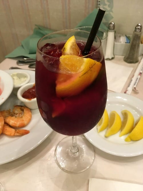 Sangria at 1900 Park Fare dinner