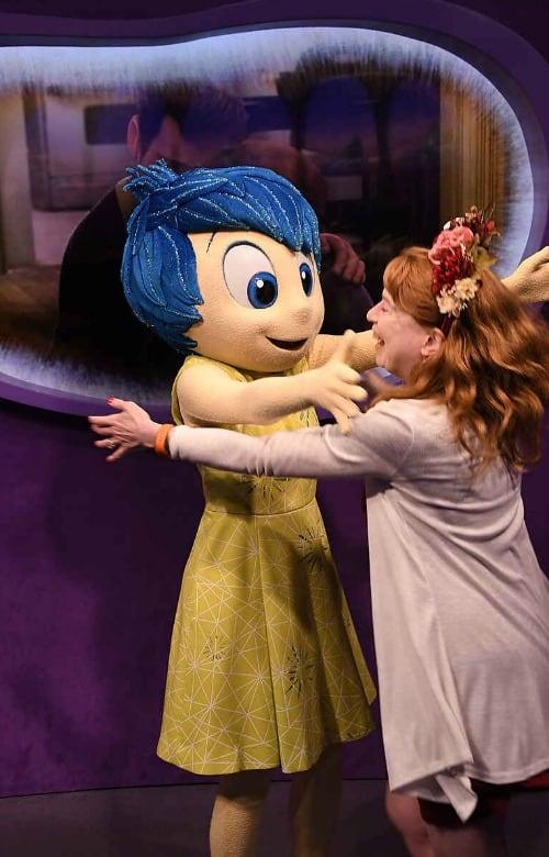 Meeting Joy on Disney World vacation