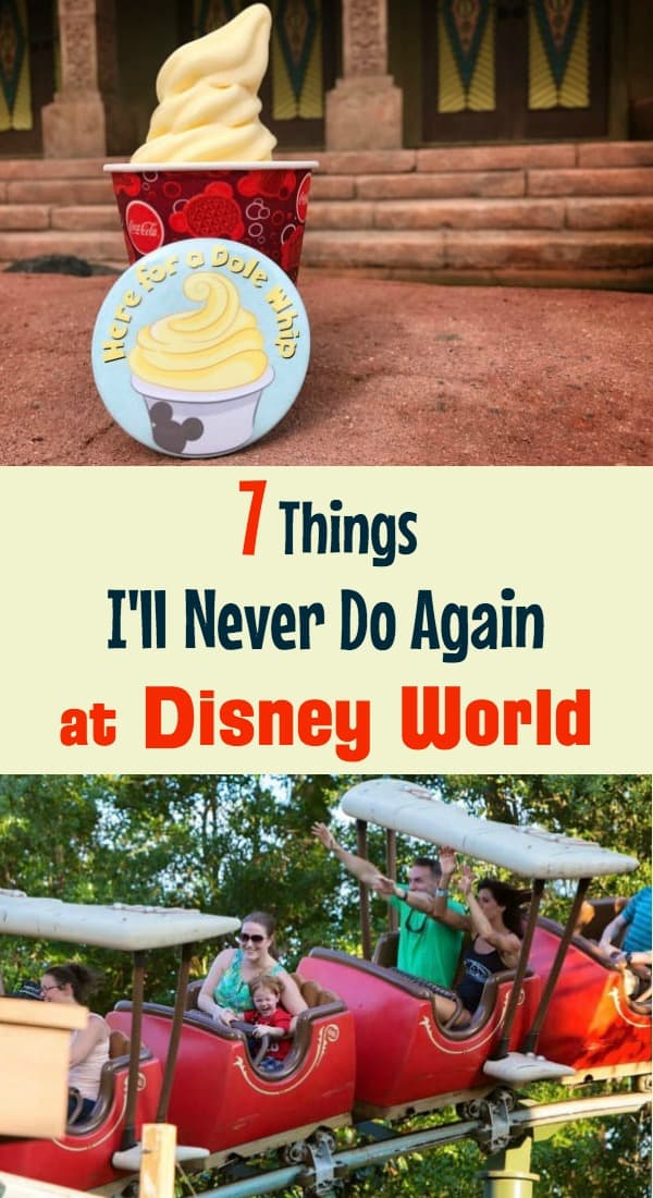 Things I'll Never do Again at Disney World
