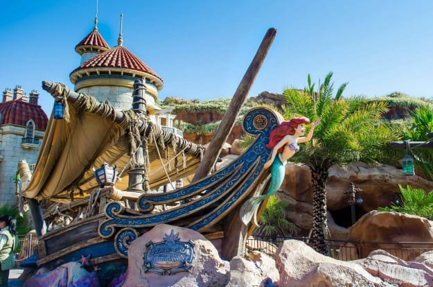 Under the Sea Journey of the Little Mermaid ride in Magic Kingdom