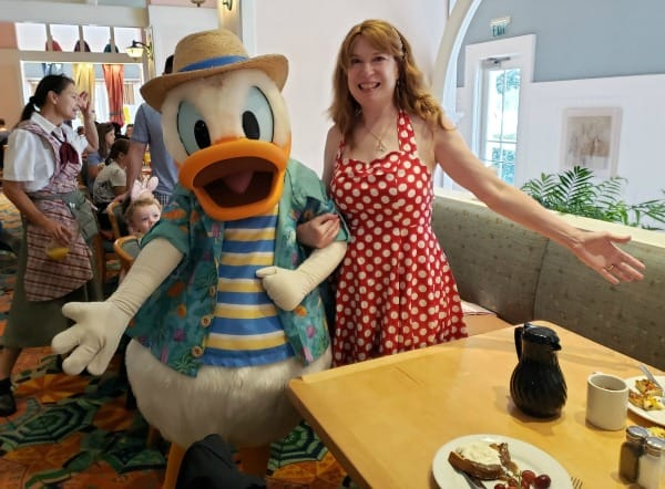 Breakfast with Donald Duck at Cape May Cafe in Disney World