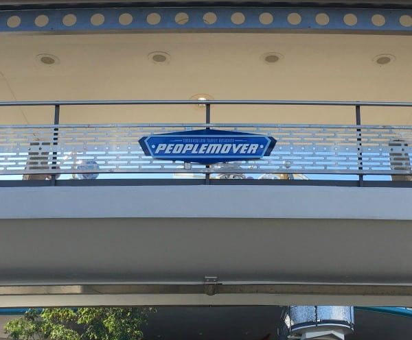 Tomorrowland transit authority people mover in Magic Kingdom