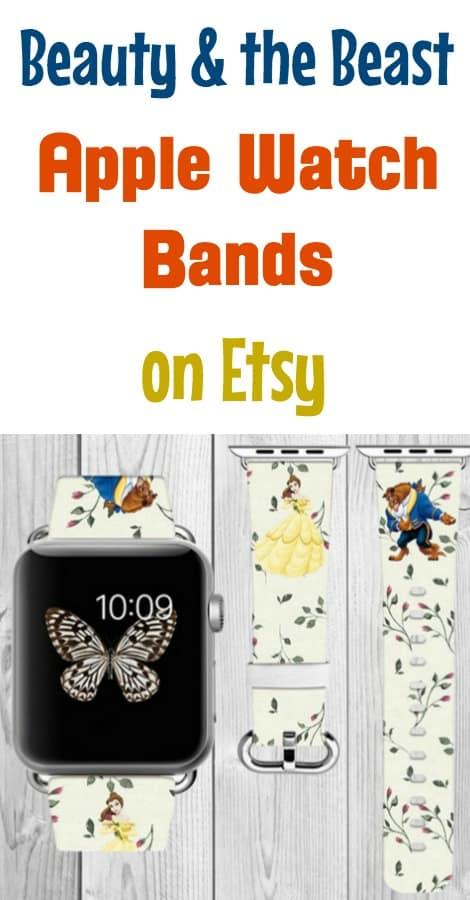 Disney Princess Apple watch bands on etsy