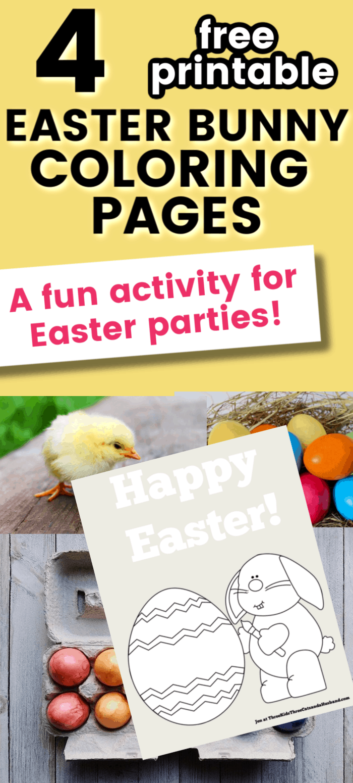 Free printable Easter bunny coloring pages