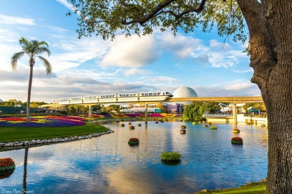Epcot monorail Disney World vacation