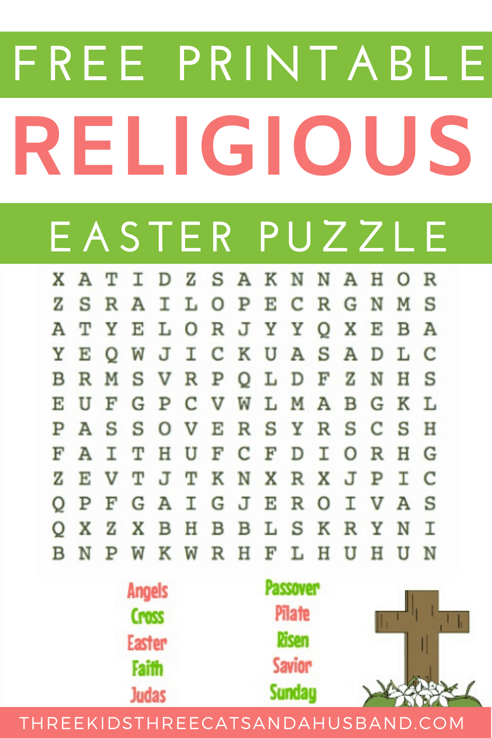 Religious Easter word search