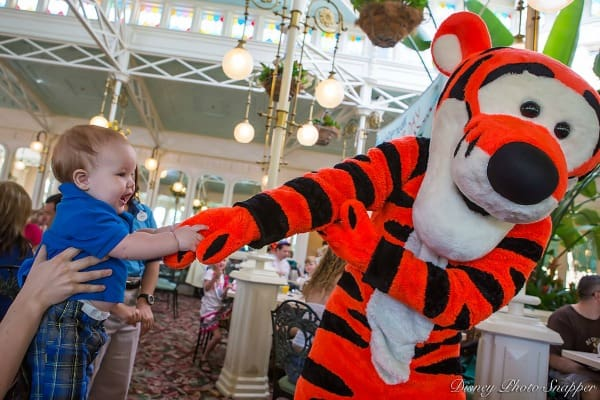 Tigger at Crystal Palace in Magic Kingdom
