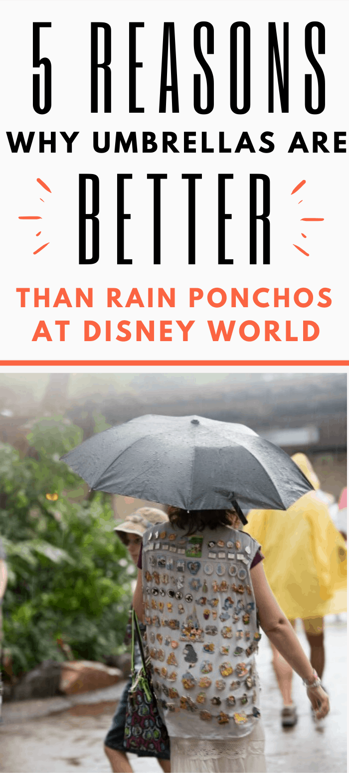 Travel umbrellas are better than rain ponchos at Disney World