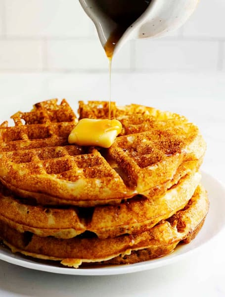 Classic Belgian Waffles with Yeast