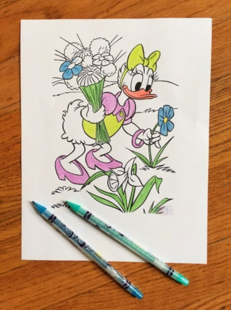 Daisy duck Disney coloring page for kids