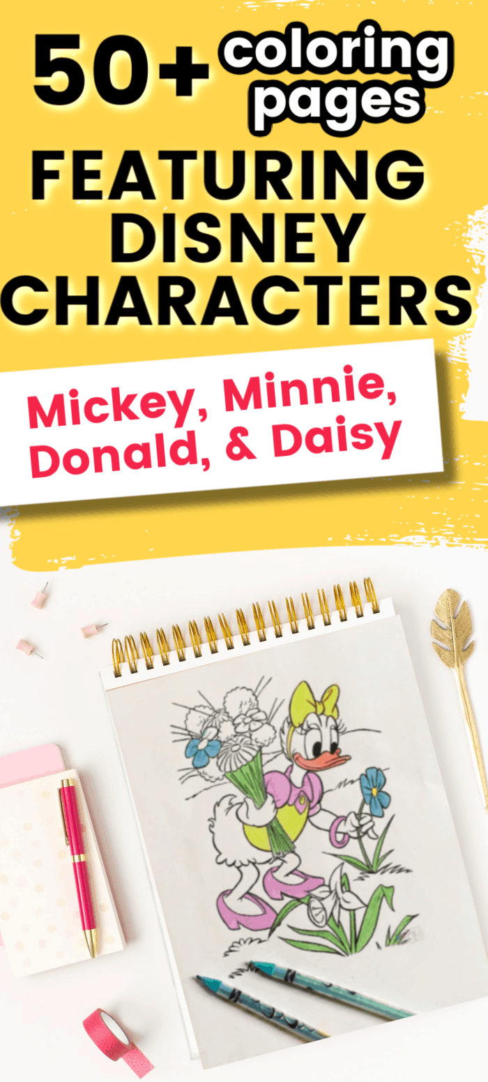 Disney character free printable coloring pages