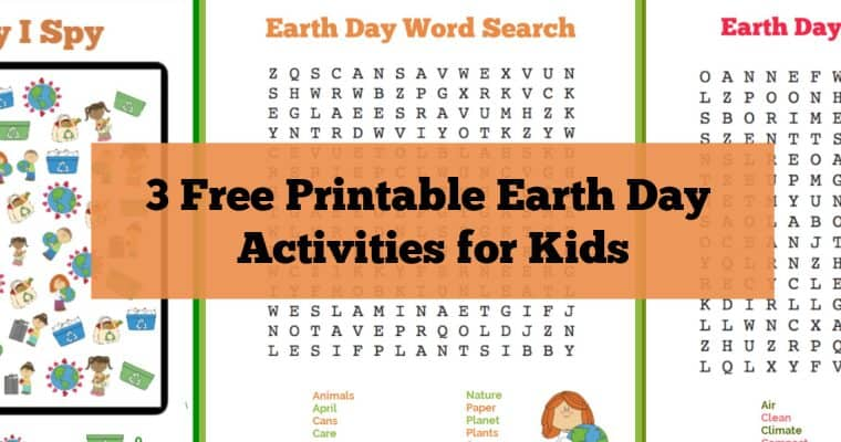 Earth Day Printable Activities: Word Searches and I Spy