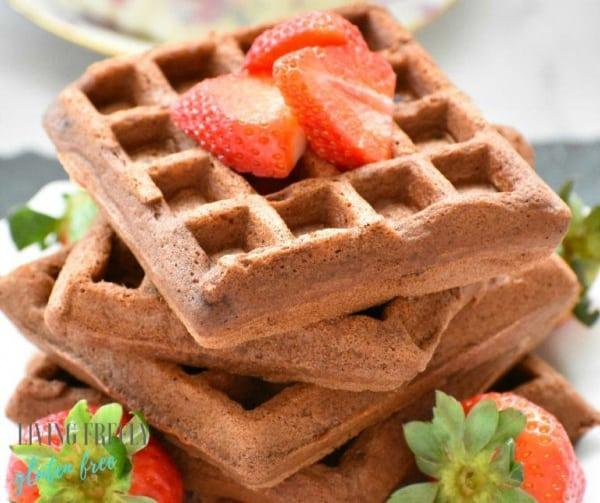 Gluten free dairy free Paleo Chocolate Waffles