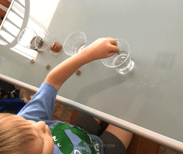 Penny chemistry experiment for kids