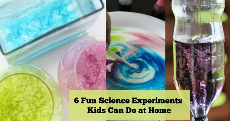 6 Fun Science Experiments to Do at Home (using household items!)
