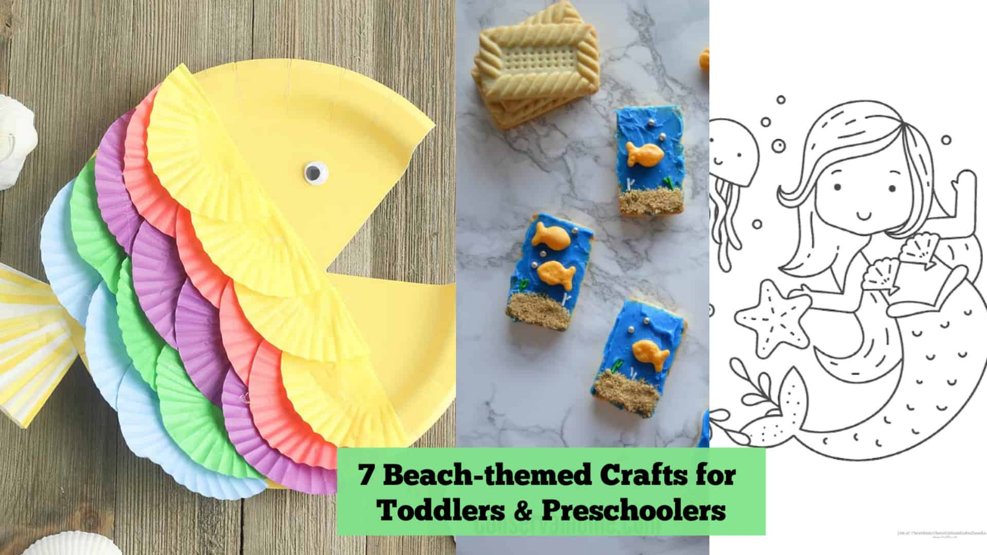 7 Beach Themed Crafts for Toddlers and Preschoolers