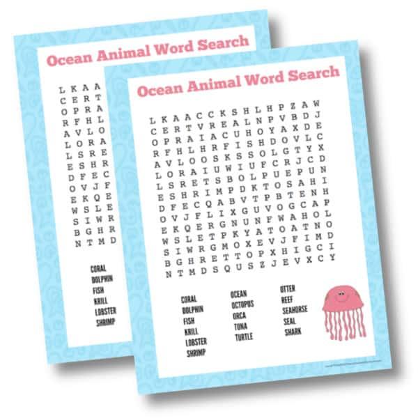Color ocean animal word search 1 mockup