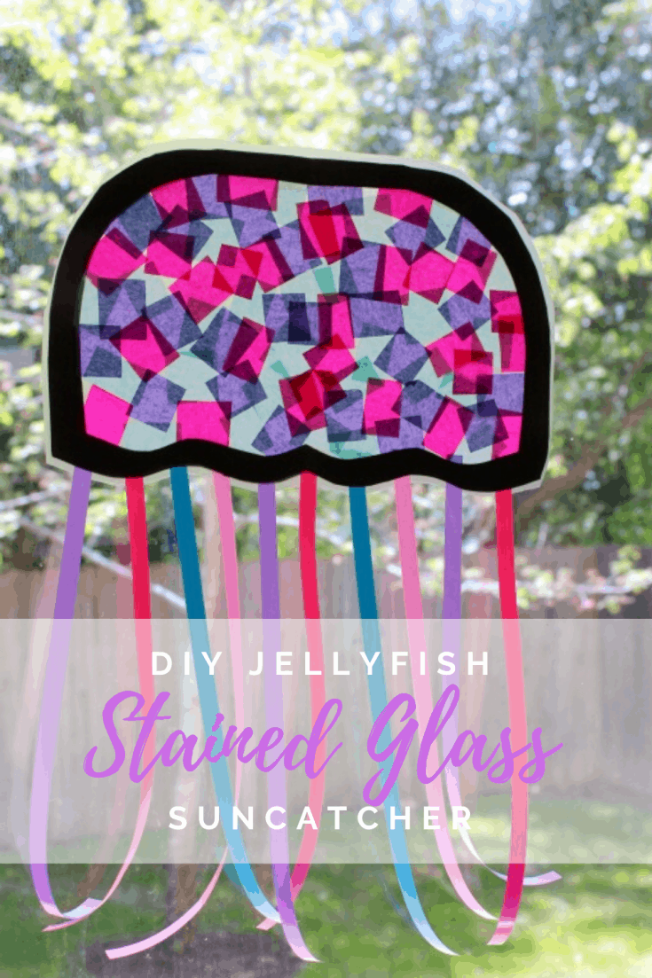 Jellyfish Stained Glass Suncatcher