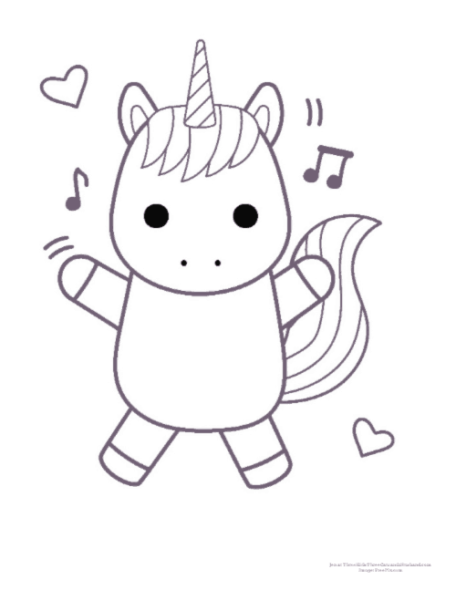 Unicorn Coloring For Kids