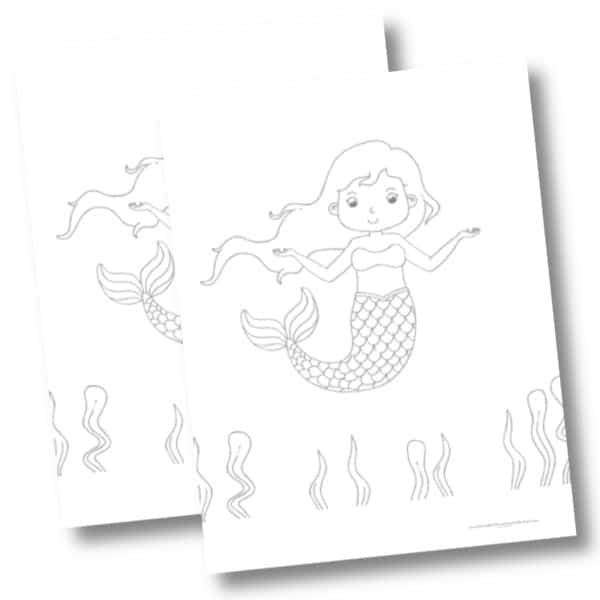 Dancing mermaid mockup