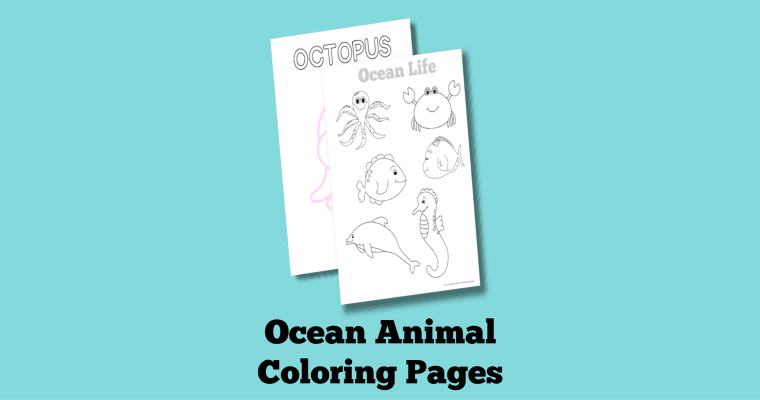 Free Printable Ocean Themed Coloring Pages (Fun Under the Sea!)