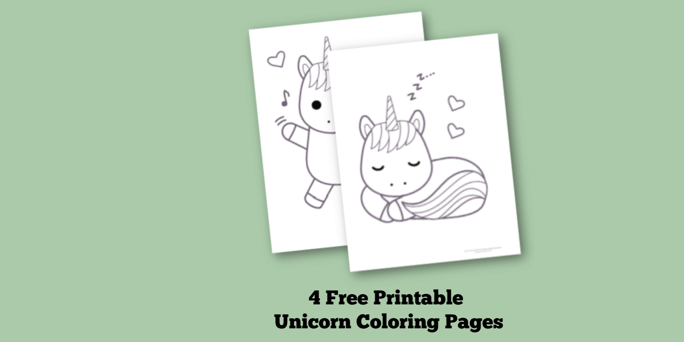 4 Free Printable Unicorn Coloring Pages For Kids