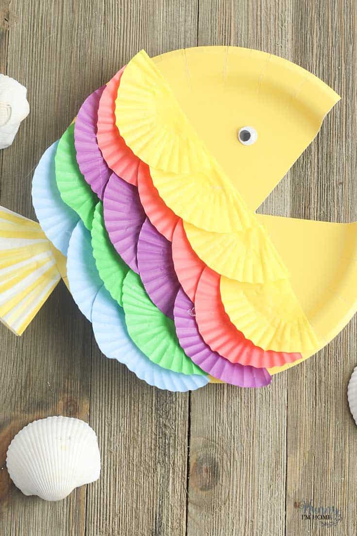 Paper Plate Fish Craft