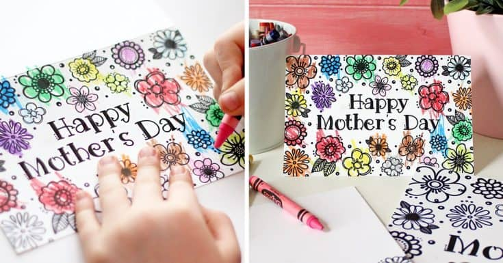Printable Mother's Day Coloring Page & Card