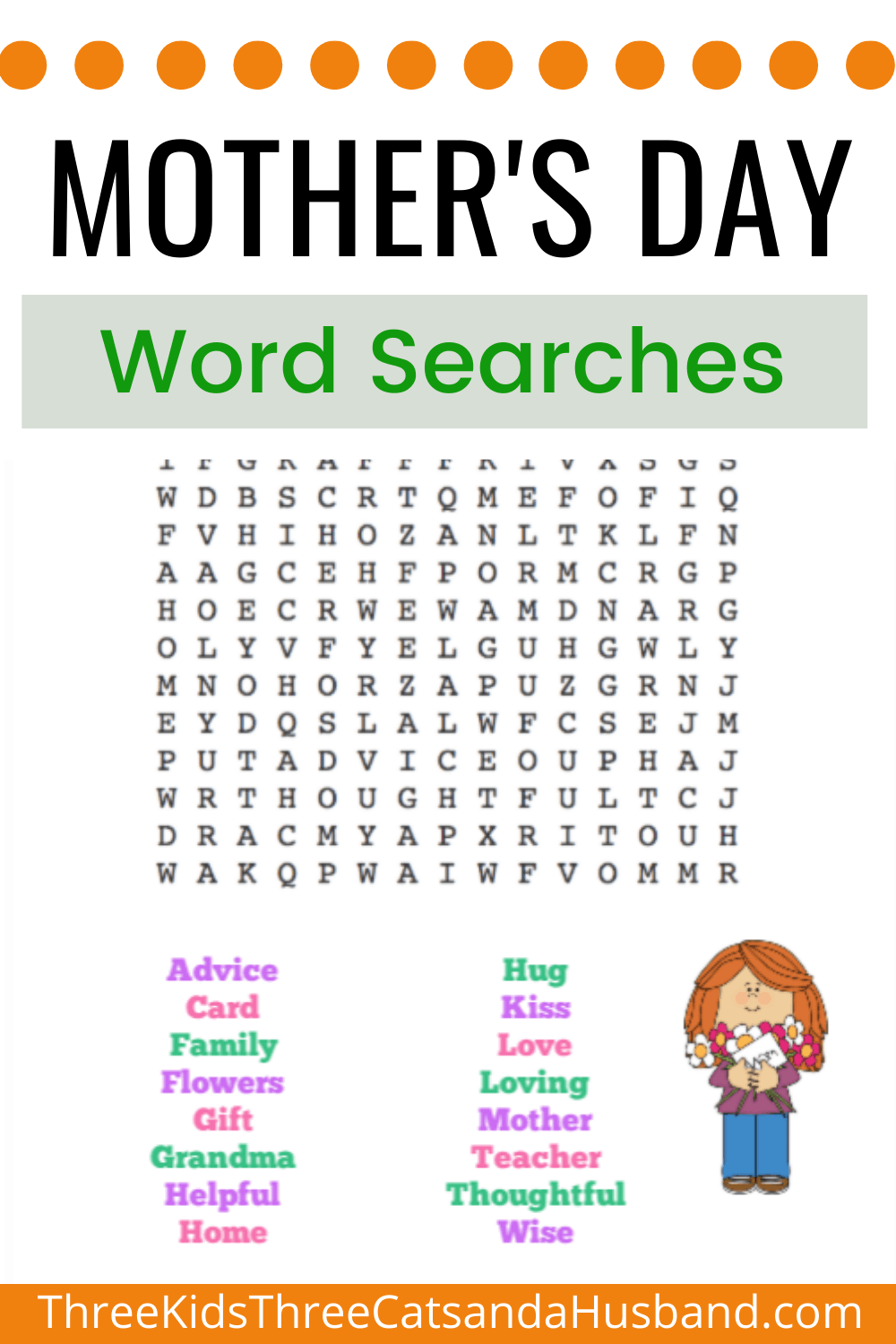 Free Printable Mothers Day Word Searches