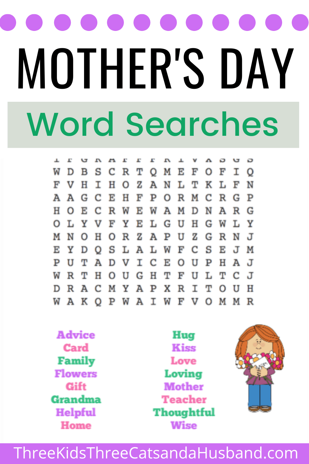 Free printable mother's day word searches