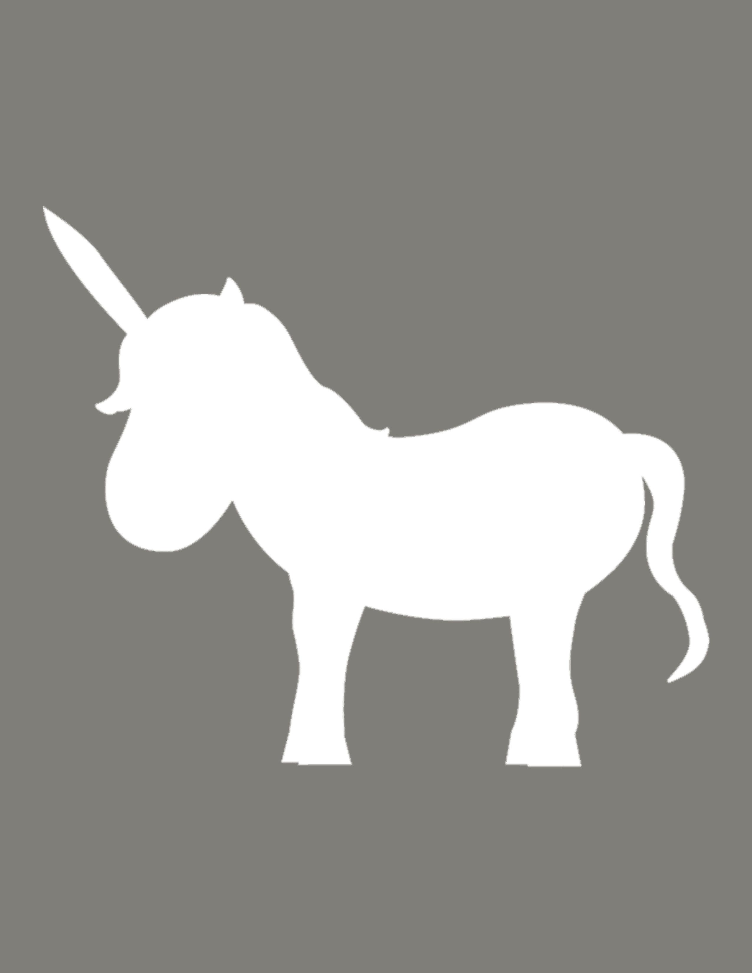 Large Unicorn template