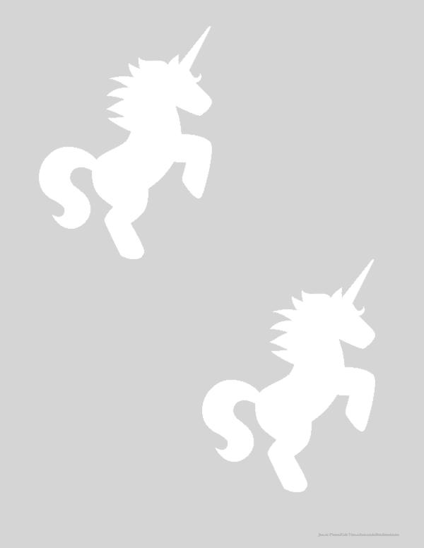 Medium unicorn templates