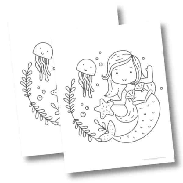 Mermaid and Jellyfish mockup