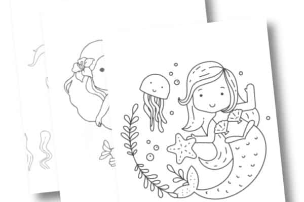 Free Printable Mermaid Coloring Pages for Girls