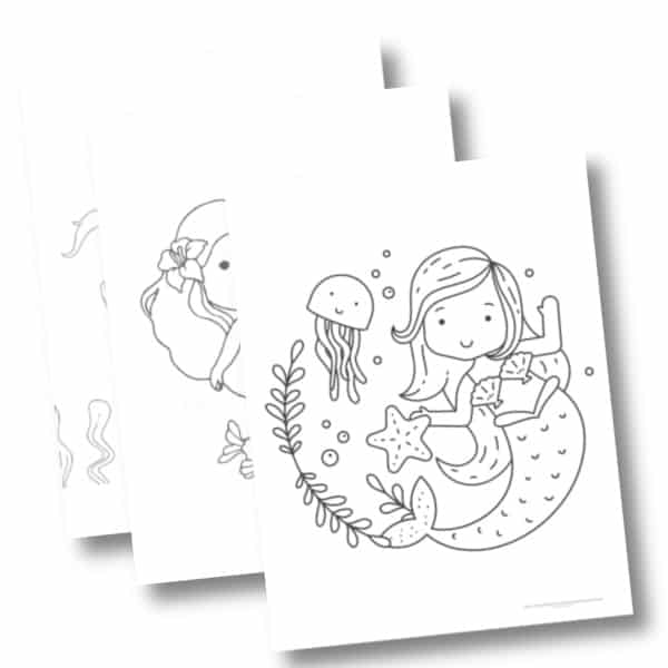 - 3 Free Printable Mermaid Coloring Pages For Girls