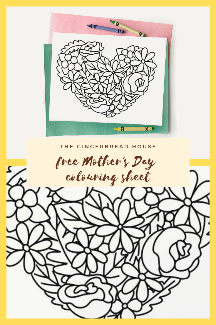 Mother's Day Coloring Page for Kids