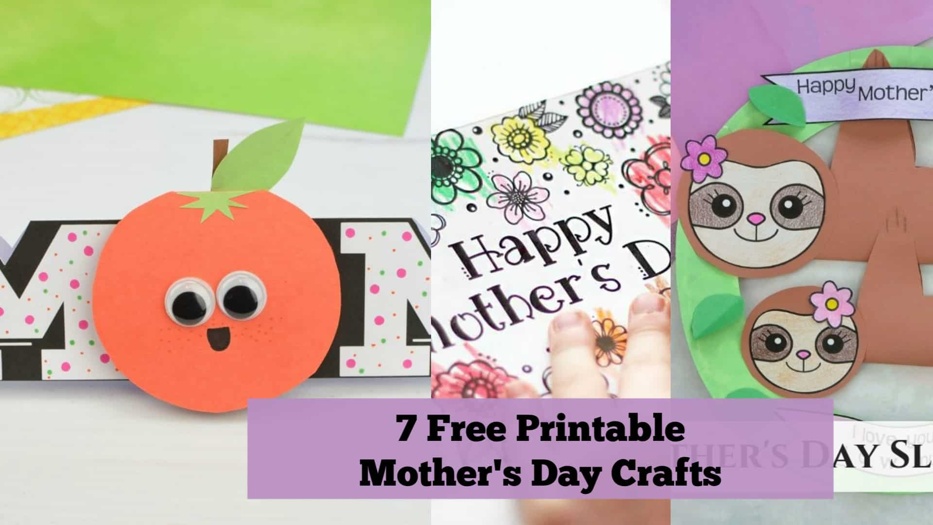 7 Free Printable Mother's Day Crafts for Kids